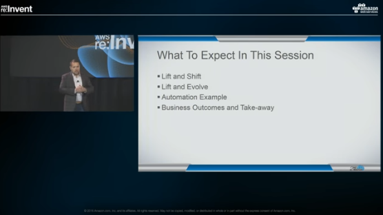 AWS re:Invent 2016 Session: Lift and Evolve – Making Money with the Cloud Takes Help
